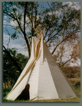 Tipi camping in the Victorian Alps