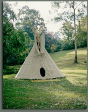 Tipi used for Bed and breakfast