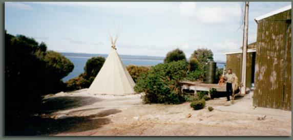 Camping in my Tipi on Kangaroo Island