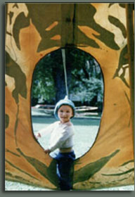 Little pixie in a Tipi