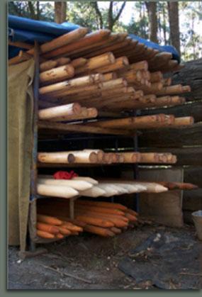 Storing the Tipi poles