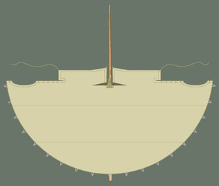 Tipi cover plan view