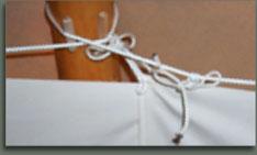 Tipi lining detail