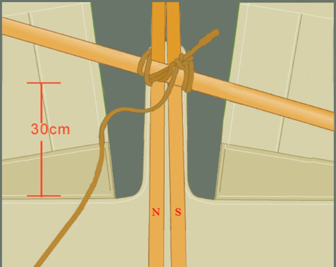 tying the tripod