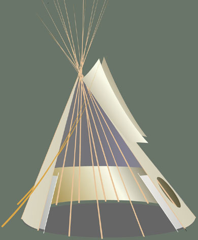 Tipi side view